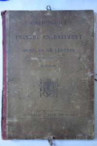 Bibliothèque du peintre en batiment, modèles de lettres N.Glaise