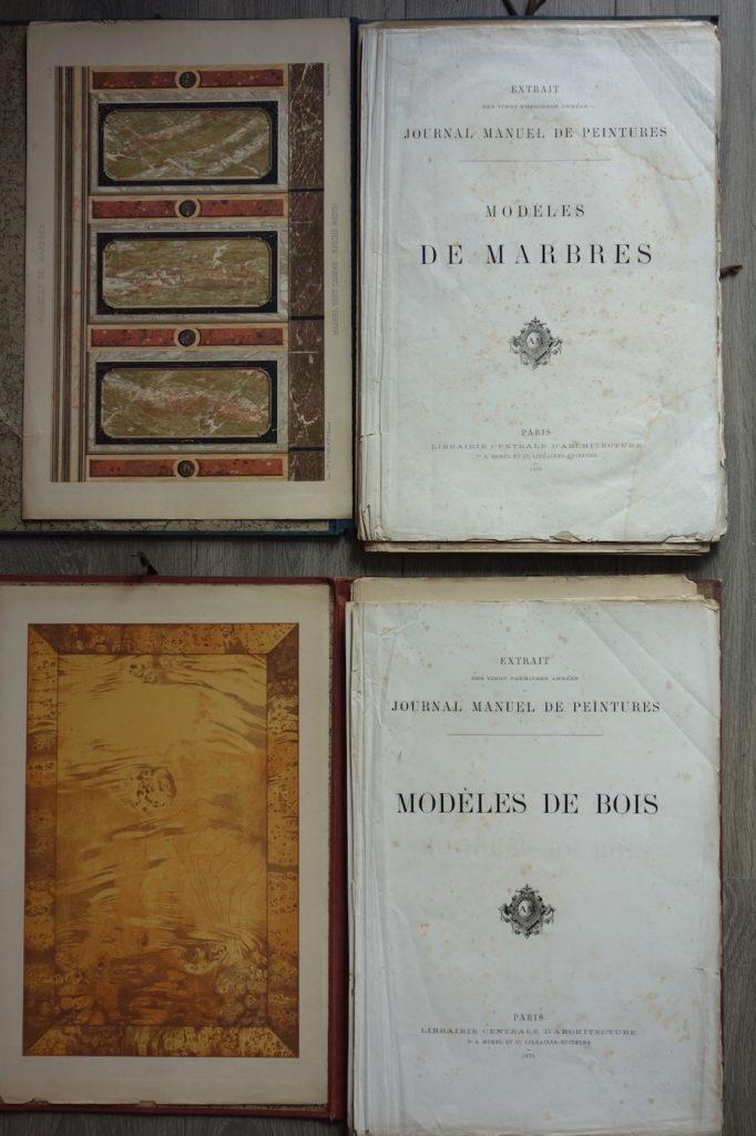 Journal manuel de peintures, bois et marbres