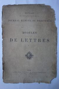 Journal manuel de peintures, modèles de lettres