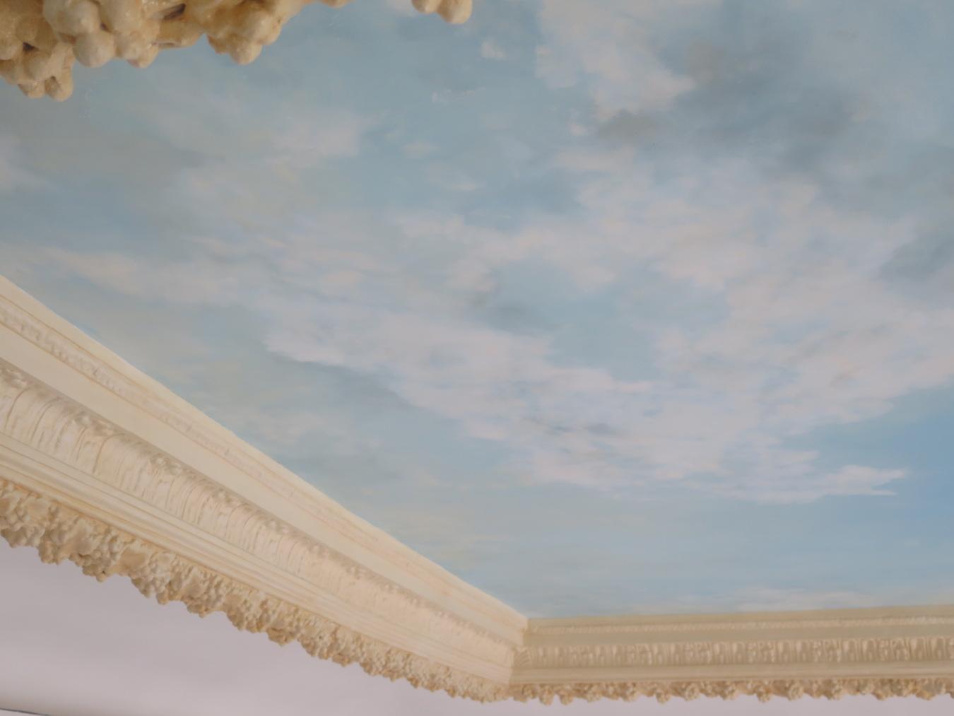 ciel peint de plafond place des vosges paris studio julien gautier. Black Bedroom Furniture Sets. Home Design Ideas
