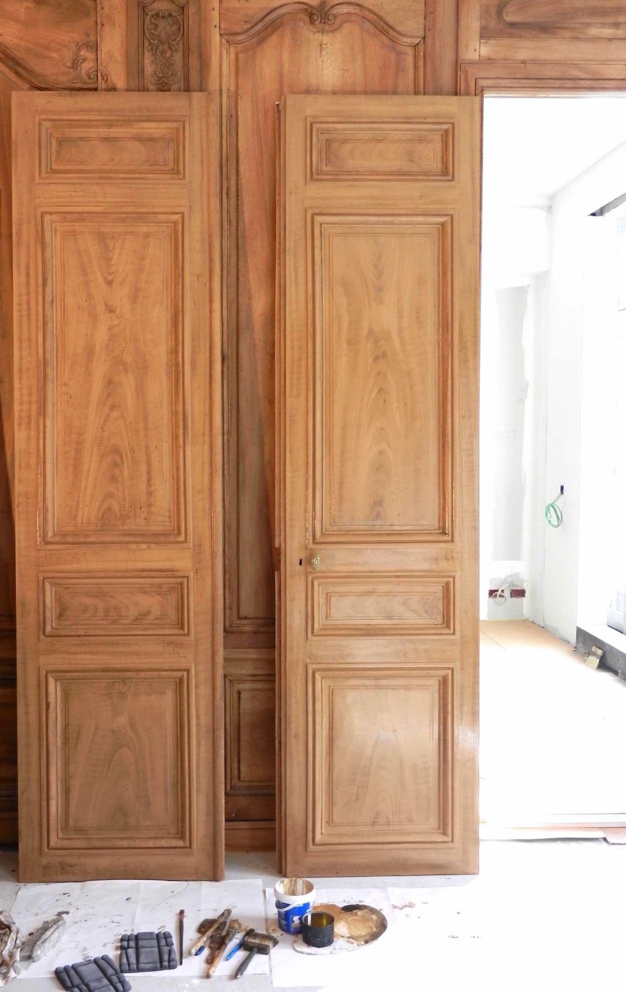 Faux Bois De Ch Ne Et Noyer Sur Portes Paris Studio Julien Gautier # Bois De Chene