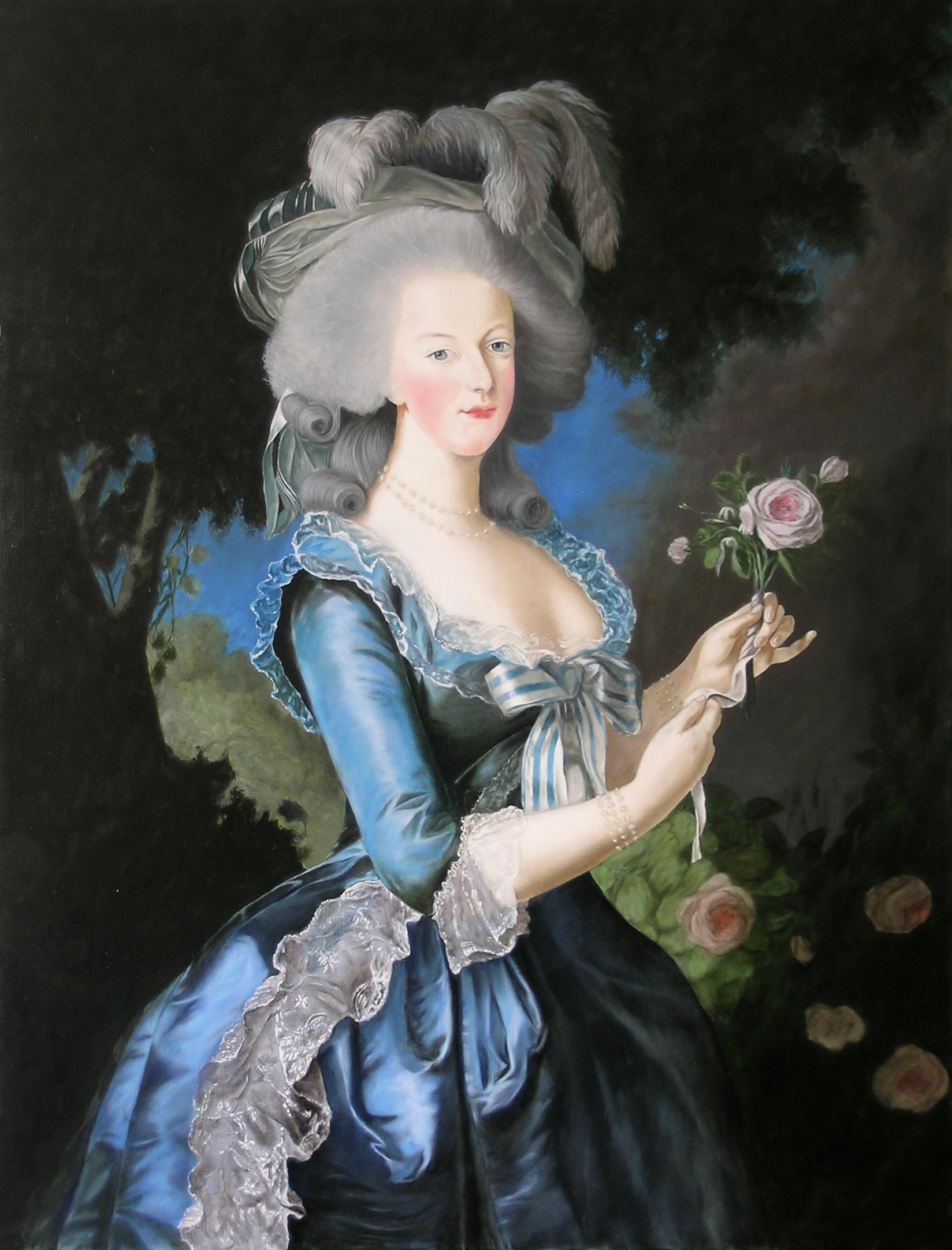 Copie de Marie Antoinette de Élisabeth Vigée Le Brun. Julien Gautier