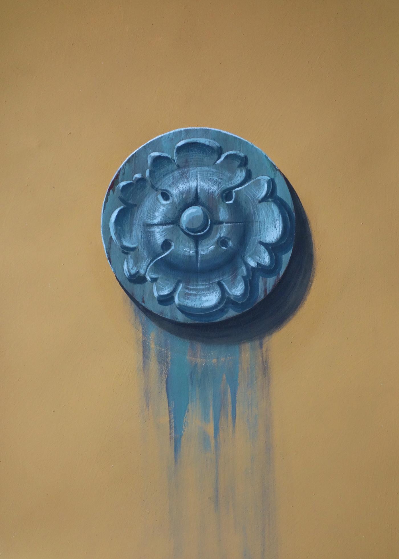 Ornement peint à la peinture minérale